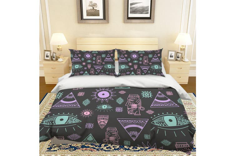 3D Eye Totem Quilt Cover Set Bedding Set Pillowcases 122-Double