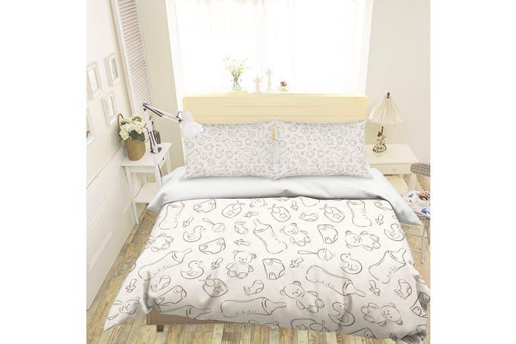 3D Cartoon Baby Bottle toy Quilt Cover Set Bedding Set Pillowcases 121-Double
