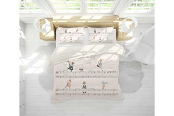 3D Sheet Music Musician Quilt Cover Set Bedding Set Pillowcases 19-Double