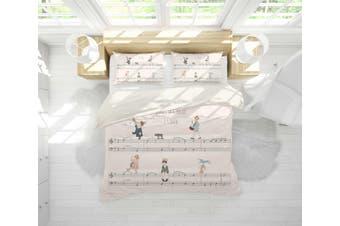 3D Sheet Music Musician Quilt Cover Set Bedding Set Pillowcases 19-King