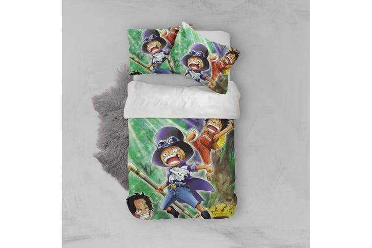 3D Anime Characters Quilt Cover Set Bedding Set Pillowcases 220-Queen