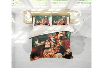 3D Anime Characters Quilt Cover Set Bedding Set Pillowcases 216-Double