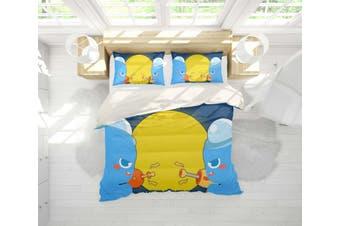 3D Anime Alien Prairie Quilt Cover Set Bedding Set Pillowcases 60-Queen