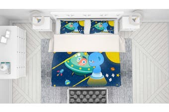 3D Anime Alien Prairie Quilt Cover Set Bedding Set Pillowcases 59-Single
