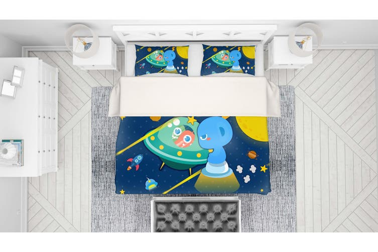 3D Anime Alien Prairie Quilt Cover Set Bedding Set Pillowcases 59-Queen
