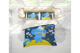 3D Anime Alien Prairie Quilt Cover Set Bedding Set Pillowcases 58-Single