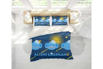 3D Anime Alien Prairie Quilt Cover Set Bedding Set Pillowcases 57-Double