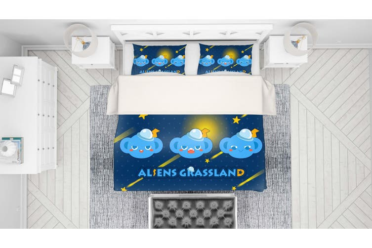3D Anime Alien Prairie Quilt Cover Set Bedding Set Pillowcases 57-Queen