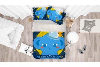 3D Anime Alien Prairie Quilt Cover Set Bedding Set Pillowcases 56-King
