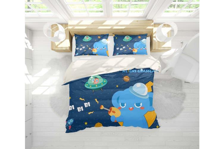 3D Anime Alien Prairie Quilt Cover Set Bedding Set Pillowcases 53-Single