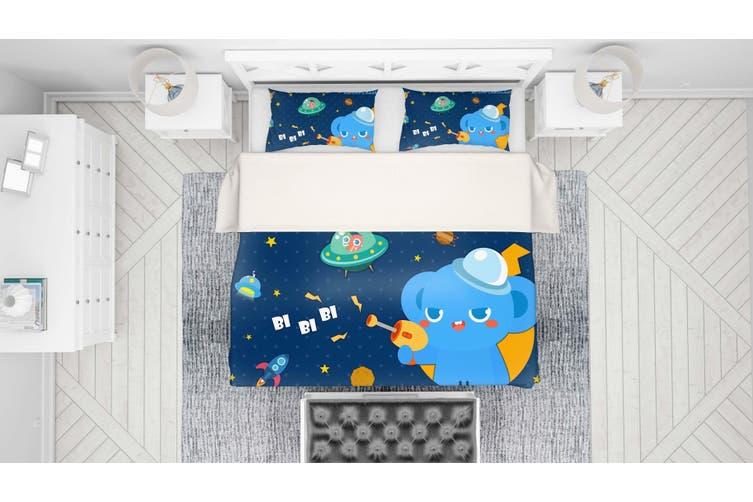 3D Anime Alien Prairie Quilt Cover Set Bedding Set Pillowcases 53-King