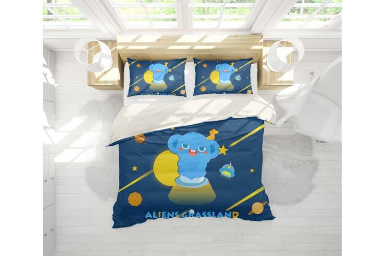 3D Anime Alien Prairie Quilt Cover Set Bedding Set Pillowcases 52-Single