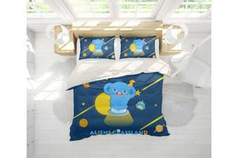 3D Anime Alien Prairie Quilt Cover Set Bedding Set Pillowcases 52-Double