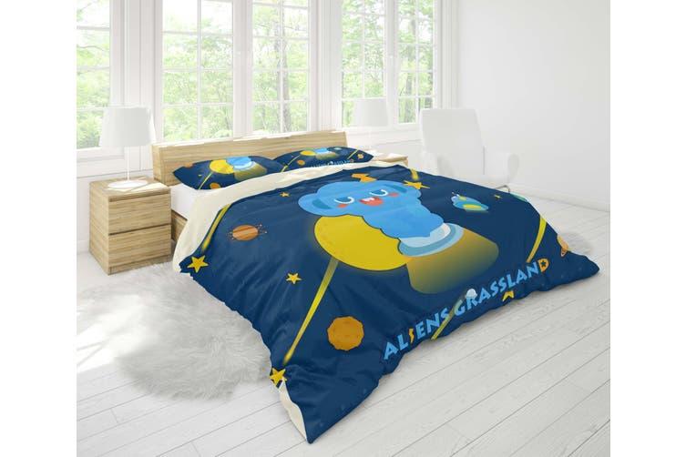 3D Anime Alien Prairie Quilt Cover Set Bedding Set Pillowcases 52-Queen