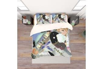 3D Anime Grim Reaper Quilt Cover Set Bedding Set Pillowcases 50-Single