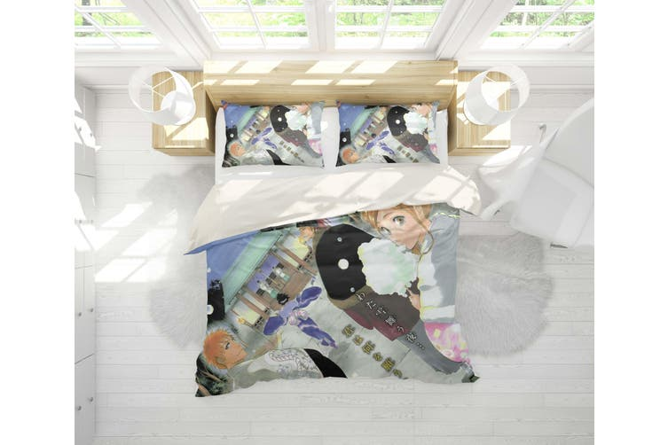 3D Anime Grim Reaper Quilt Cover Set Bedding Set Pillowcases 50-Double