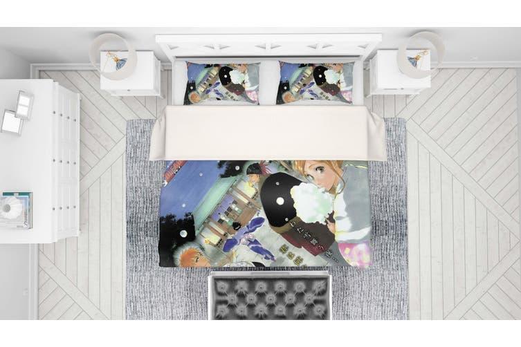 3D Anime Grim Reaper Quilt Cover Set Bedding Set Pillowcases 50-Queen