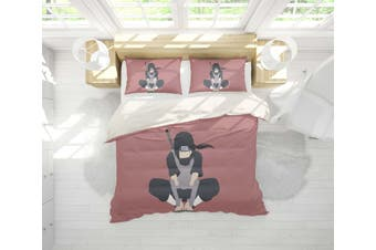 3D Anime Characters Quilt Cover Set Bedding Set Pillowcases 202-Double