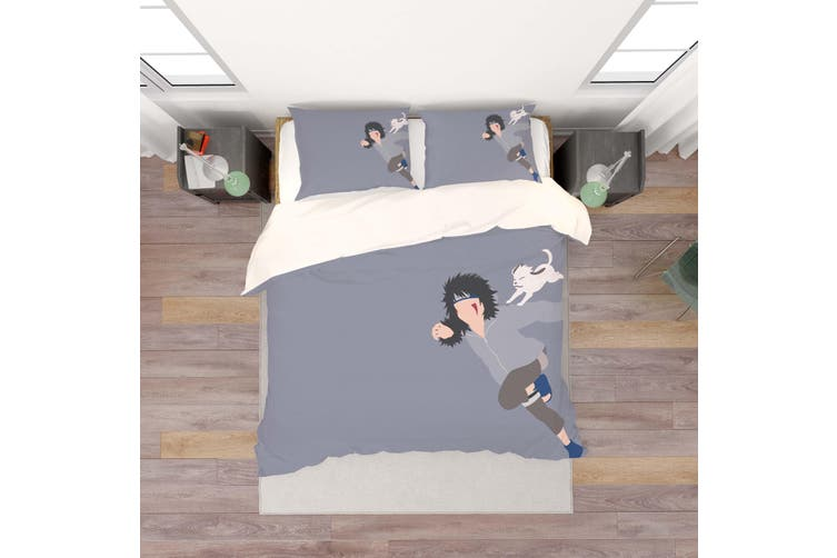 3D Anime Characters Quilt Cover Set Bedding Set Pillowcases 201-Queen