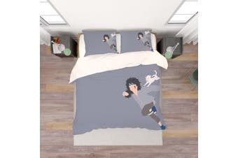 3D Anime Characters Quilt Cover Set Bedding Set Pillowcases 201-King