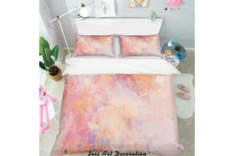 3D Pink Background Quilt Cover Set Bedding Set Pillowcases  2-Double