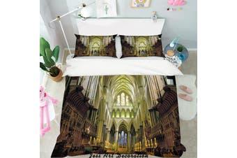 3D European Churches Quilt Cover Set Bedding Set Pillowcases  1-Single