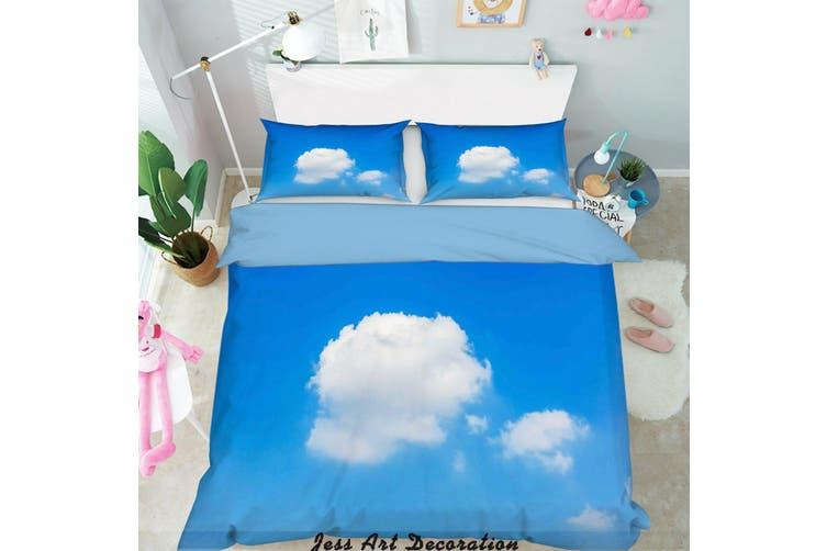3D Blue Sky White Clouds Quilt Cover Set Bedding Set Pillowcases  7-Queen