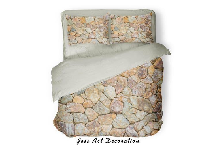 3D Stone Arrangement  Quilt Cover Set Bedding Set Pillowcases  85-King