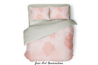 3D Pink Background Quilt Cover Set Bedding Set Pillowcases  83-Queen