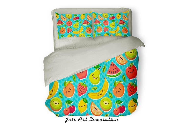 3D Color Fruits Pattern Quilt Cover Set Bedding Set Pillowcases  81-King