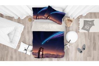 3D Your Name Quilt Cover Set Bedding Set Pillowcases 169-Single