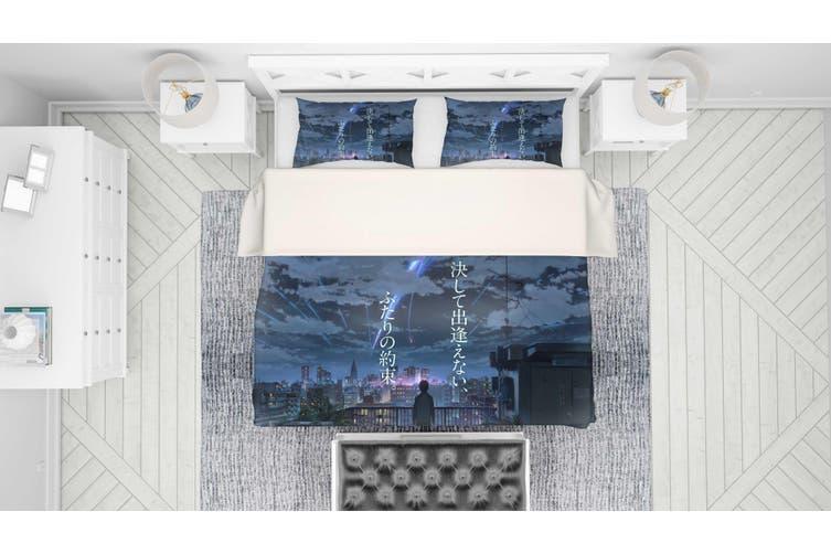 3D Your Name Quilt Cover Set Bedding Set Pillowcases 164-Single