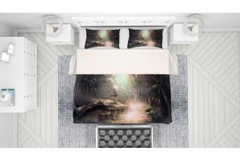 3D Mushishi Anime Quilt Cover Set Bedding Set Pillowcases 141-Queen