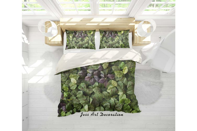 3D Green Leaves Quilt Cover Set Bedding Set Pillowcases 99-Double