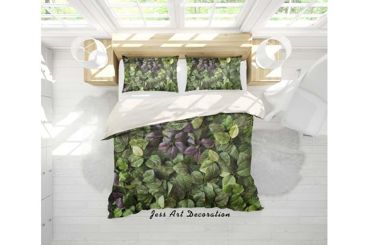 3D Green Leaves Quilt Cover Set Bedding Set Pillowcases 99-Queen