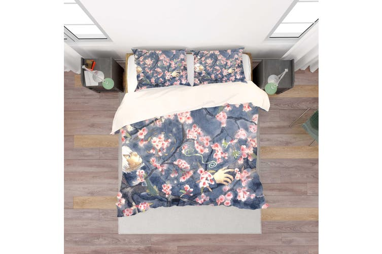 3D Mushishi Anime Quilt Cover Set Bedding Set Pillowcases 137-Double