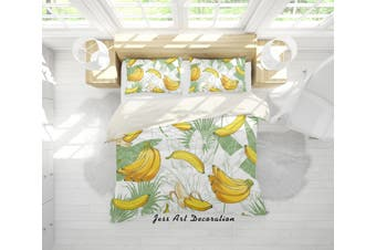 3D Yellow Bananas Quilt Cover Set Bedding Set Pillowcases 93-Double