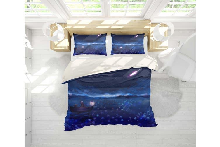 3D Mushishi Anime Quilt Cover Set Bedding Set Pillowcases 134-Single