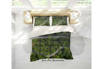 3D Aerial Photography Forest Highway Quilt Cover Set Bedding Set Pillowcases 23-Single