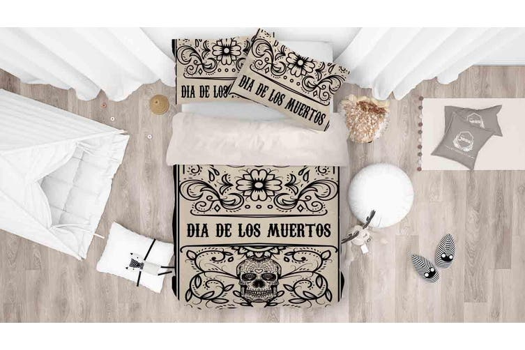 3D Day Of The Dead Quilt Cover Set Bedding Set Pillowcases 73-King