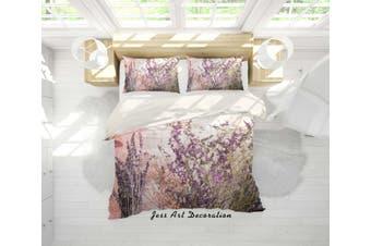 3D Purple Lavender Quilt Cover Set Bedding Set Pillowcases 20-Queen
