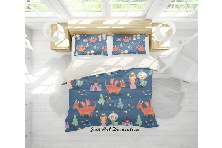 3D Fairy Tale Dinosaur Quilt Cover Set Bedding Set Pillowcases 19-King