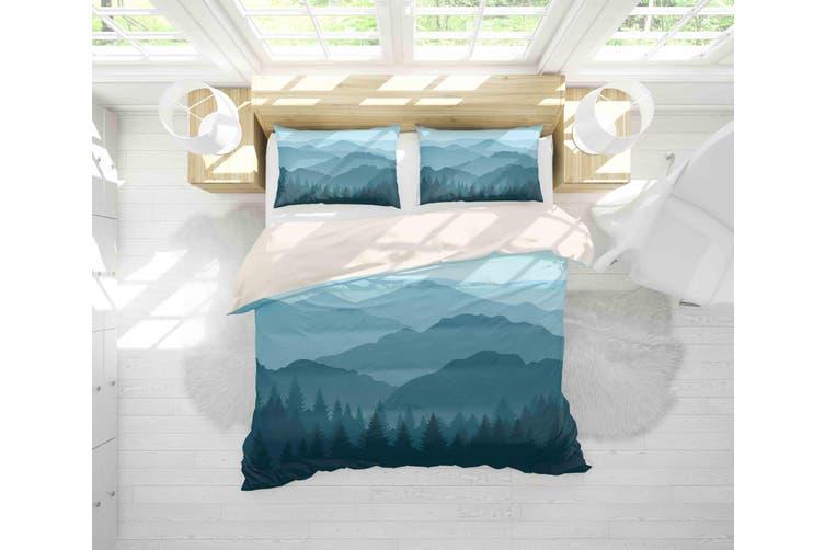 3D Mountain Scenery Quilt Cover Set Bedding Set Pillowcases 70-Queen