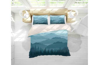3D Mountain Scenery Quilt Cover Set Bedding Set Pillowcases 70-King