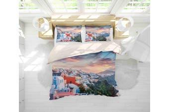 3D Seaside Scenic Quilt Cover Set Bedding Set Pillowcases 64-King