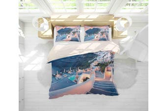 3D Seaside Scenic Quilt Cover Set Bedding Set Pillowcases 63-Double