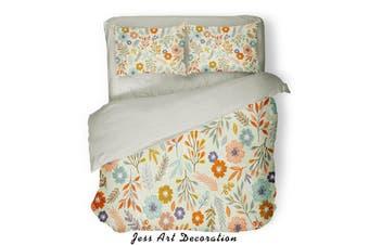 3D Color Flowers Pattern Quilt Cover Set Bedding Set Pillowcases  77-King