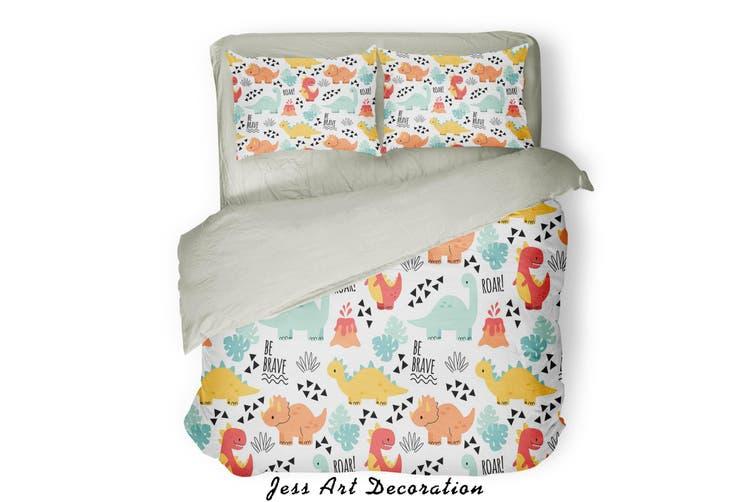 3D Color Cartoon Dinosaur Pattern Quilt Cover Set Bedding Set Pillowcases  72-King