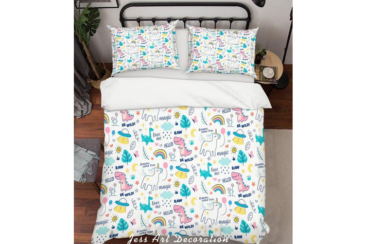3D Color Cartoon Animals Quilt Cover Set Bedding Set Pillowcases  71-Queen