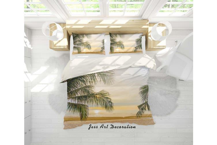 3D Sunset Tropical Beach Quilt Cover Set Bedding Set Pillowcases 05-King